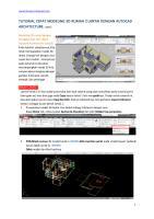Tutorial cepat modeling 3d rumah 2 lantai dengan autocad architecture - part2