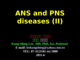 2011-6 ANS and PNS-II.ppt