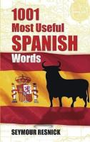 1001 Most Useful Spanish Words - Resnick, Seymour.pdf
