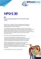 HP0-S30 Design and Implementation of HP SIM and HP Insight Control.pdf