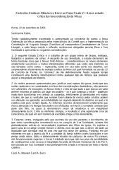 Carta dos Cardeais Ottaviani e Bacci ao Papa Paulo VI - Breve Estudo Crítico da Nova Ordenação da Missa.pdf