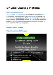 Driving Classes Victoria.docx