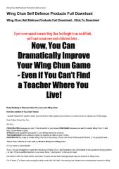 Wing Chun Self Defence Products Full Download-html.pdf